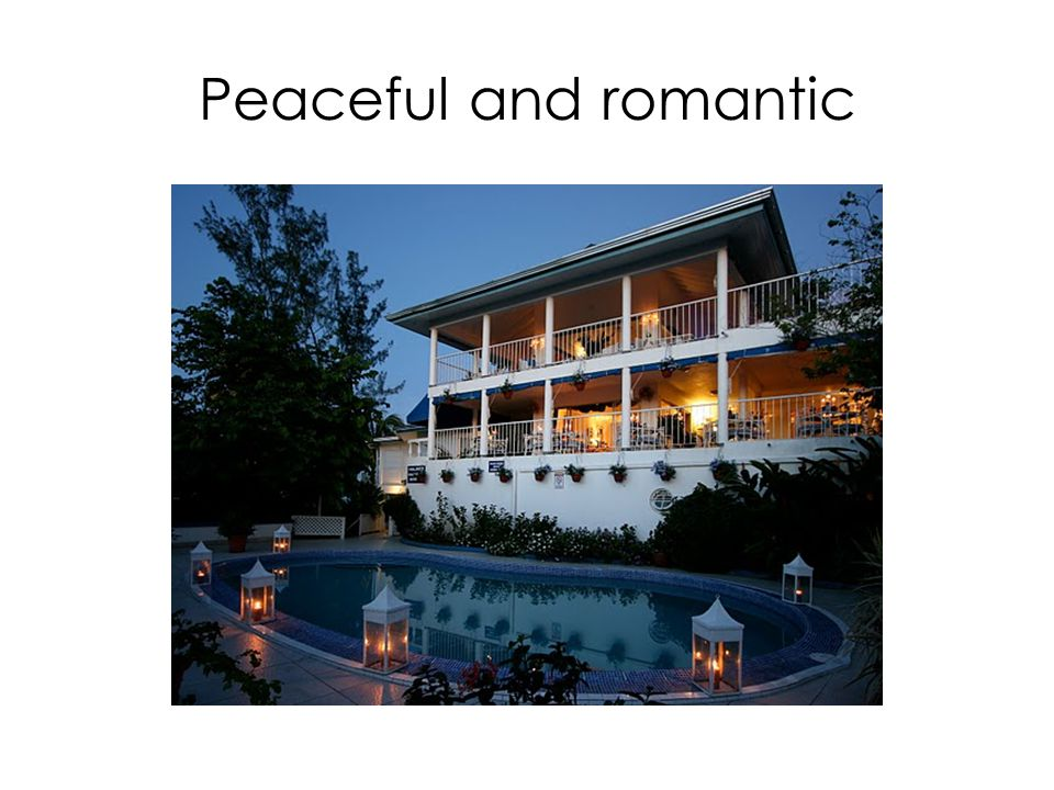 Peaceful and romantic