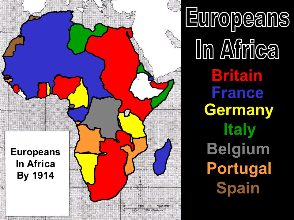Britain France Germany Italy Portugal Belgium Spain Europeans In Africa By 1914