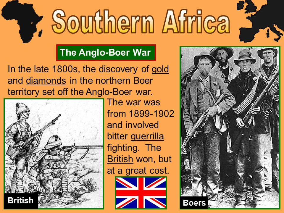 France was very powerful in North Africa, and later spread into West and Central Africa.