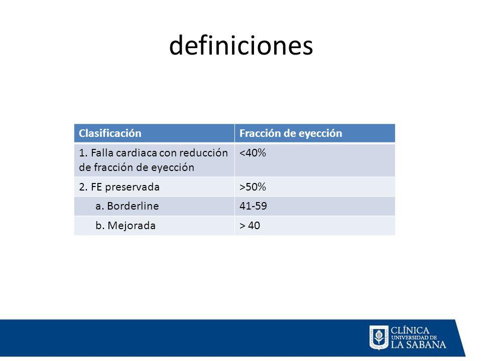 definiciones ClasificaciónFracción de eyección 1.