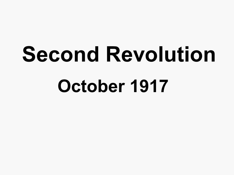 Second Revolution October 1917
