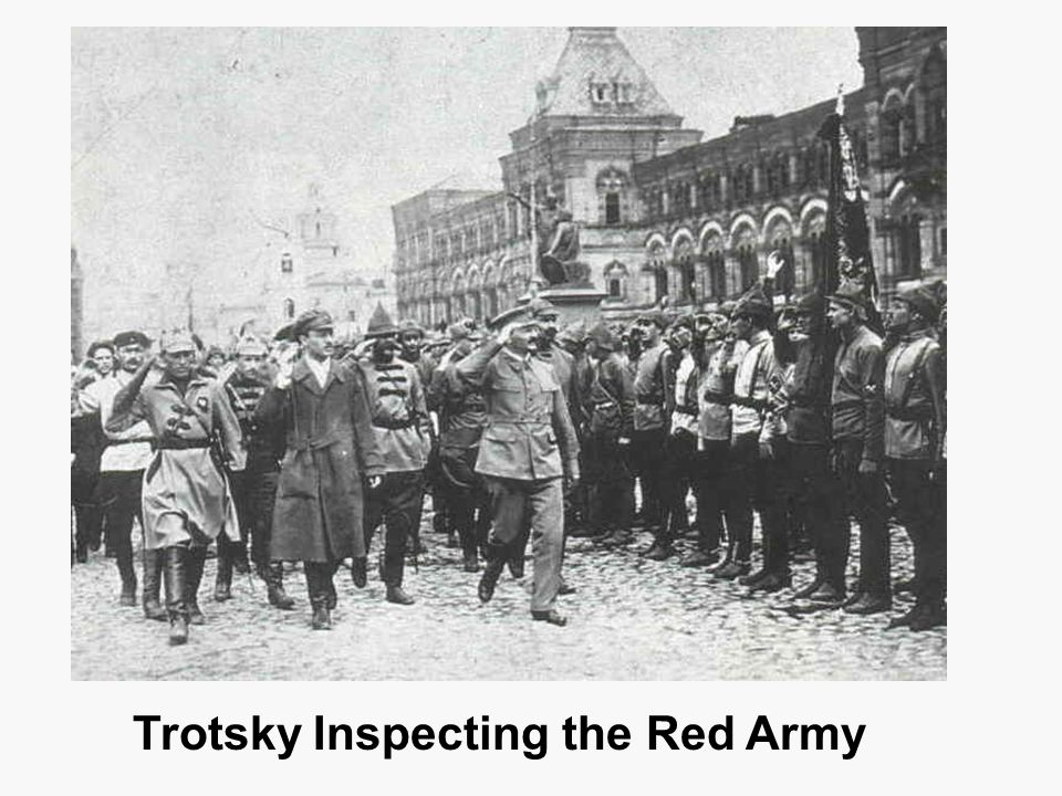 Trotsky Inspecting the Red Army