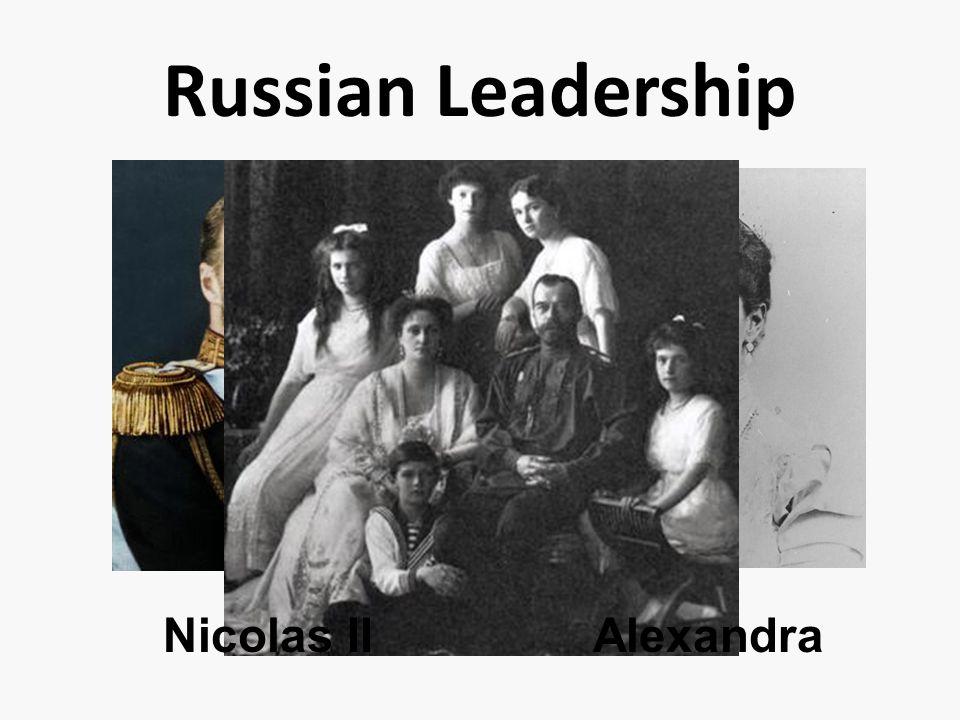 Russian Leadership Nicolas IIAlexandra