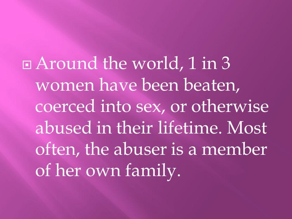 115.5 Million children witness domestic violence annually.