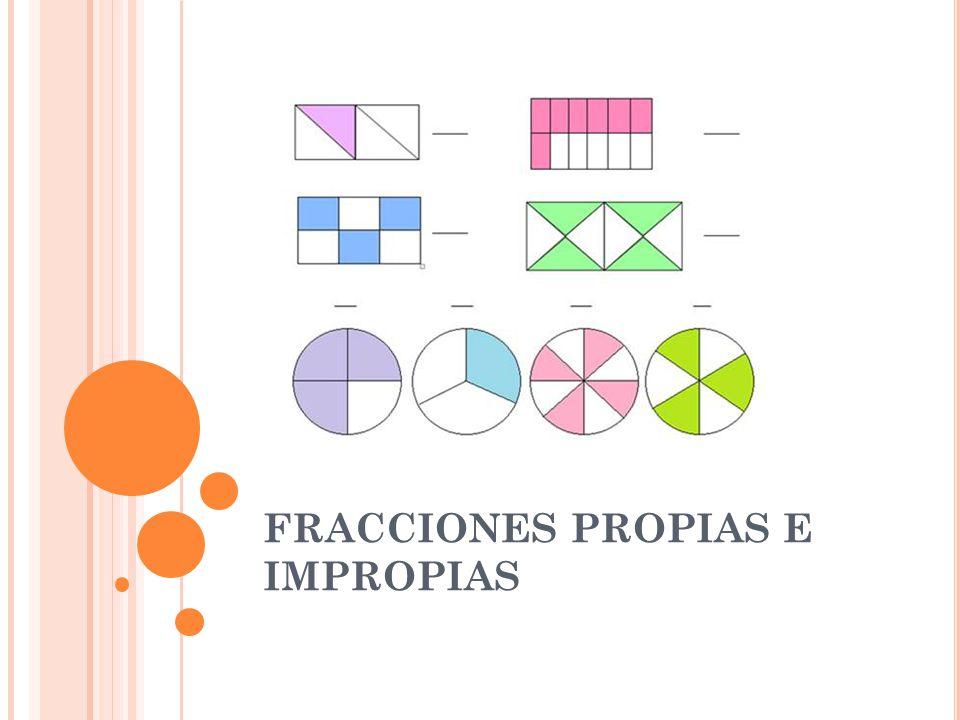 FRACCIONES PROPIAS E IMPROPIAS