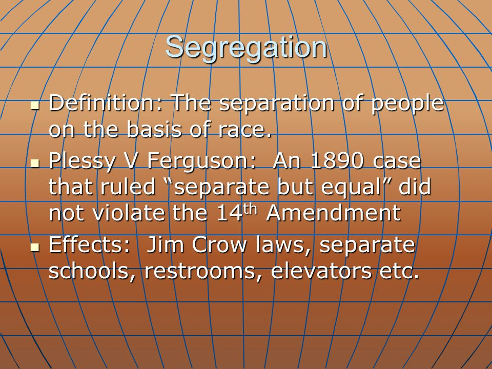 Challenging Segregation Brown V.Board of Education 1954 Brown V.