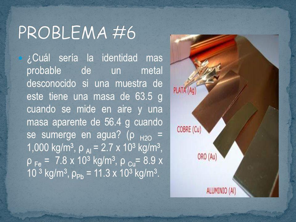 El principio de Arquímedes se puede usar no solo para determinar la gravedad específica de un sólido usando un líquido conocido.