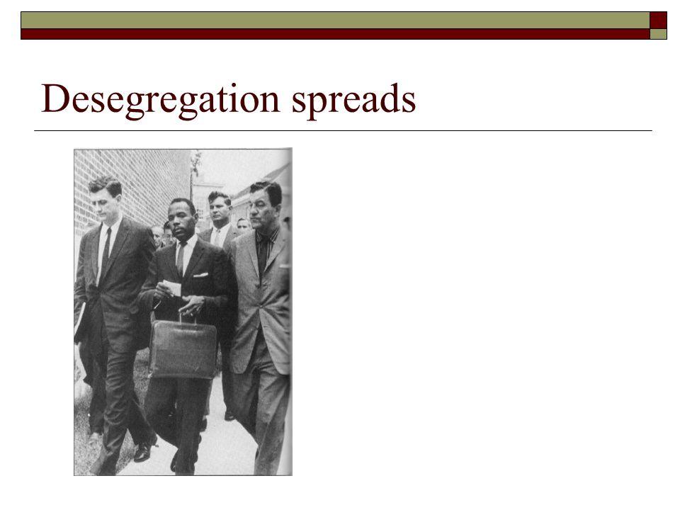 Desegregation spreads