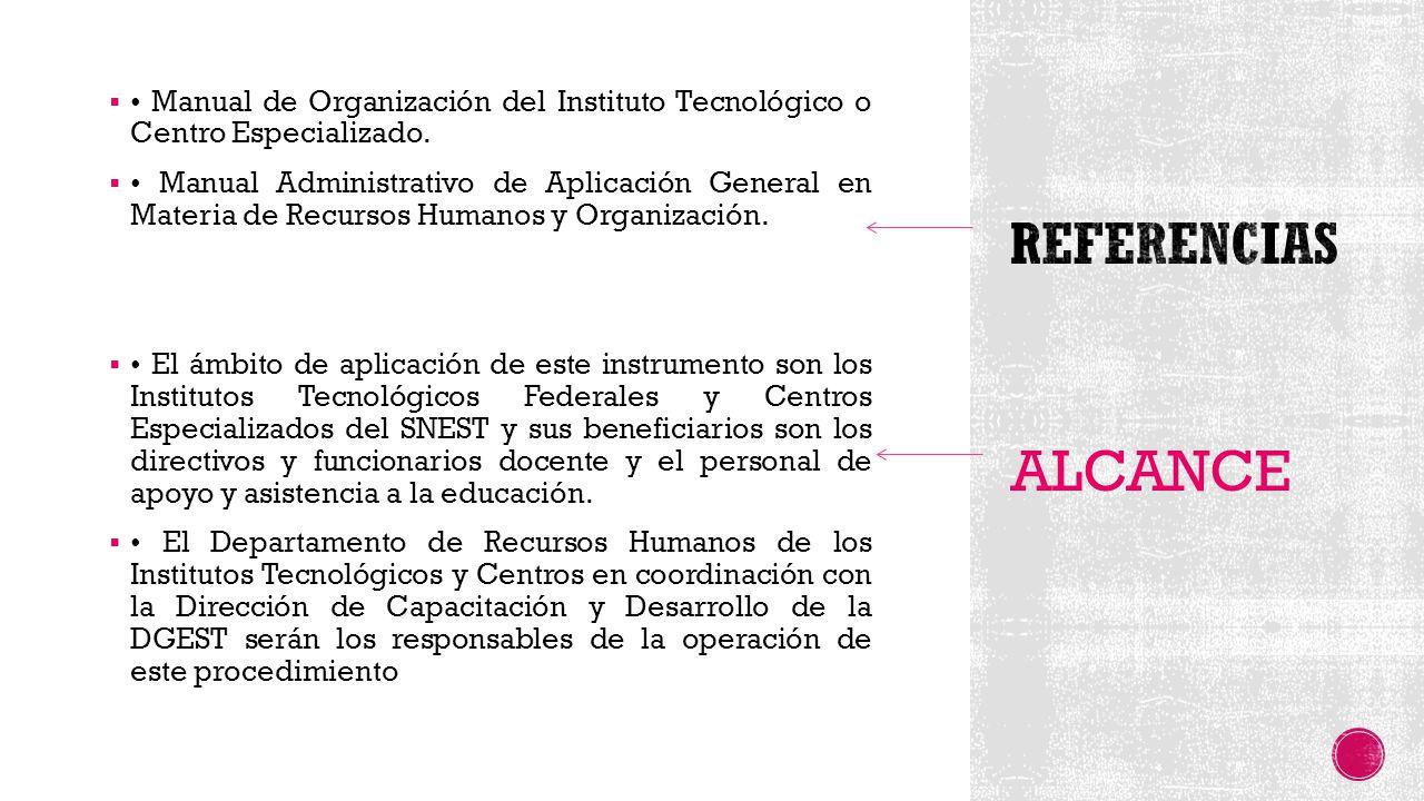  Manual de Organización del Instituto Tecnológico o Centro Especializado.