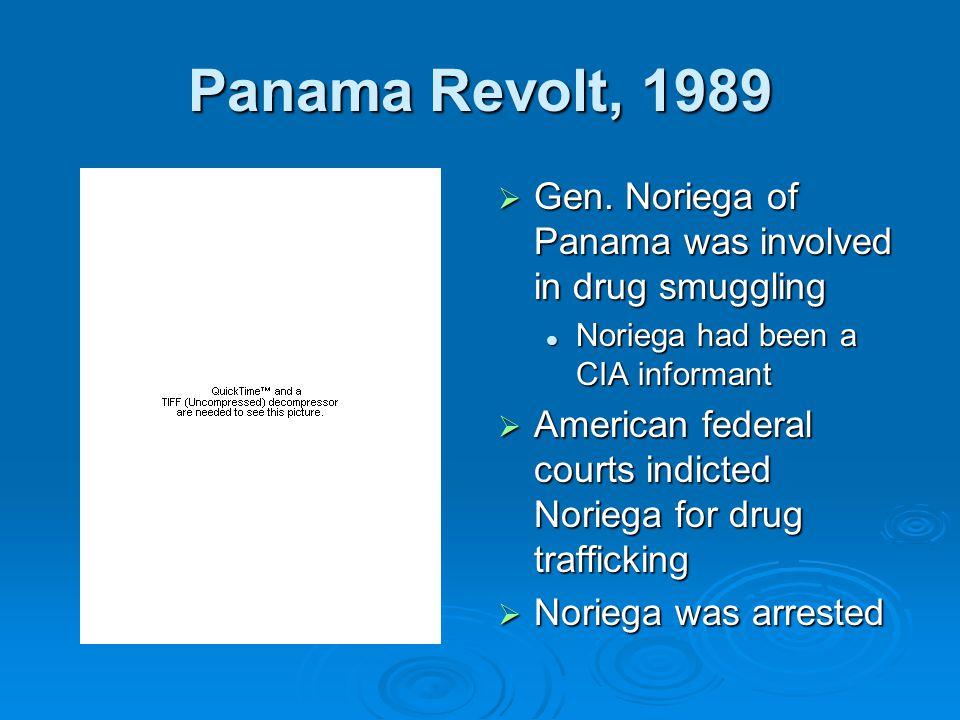 Panama Revolt, 1989  Gen.