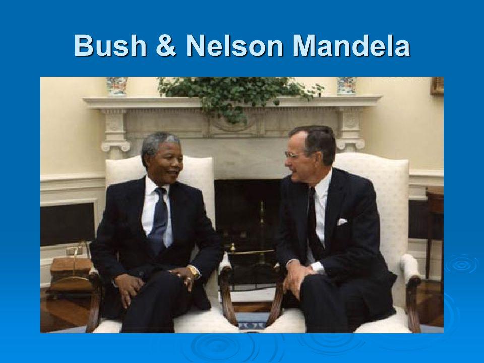 Bush & Nelson Mandela