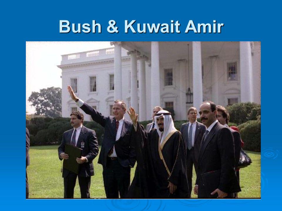 Bush & Kuwait Amir