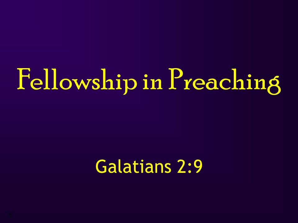 5 Fellowship in Preaching Galatians 2:9