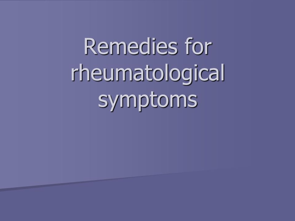 Audit of Homeopathic treatment for Rheumatology diseases 1 – No Change 1 – No Change 2 – Sl Improvement 2 – Sl Improvement 3 = Mod Improvement 3 = Mod Improvement 4= Good Improvement 4= Good Improvement 5 = Complete Cure 5 = Complete Cure
