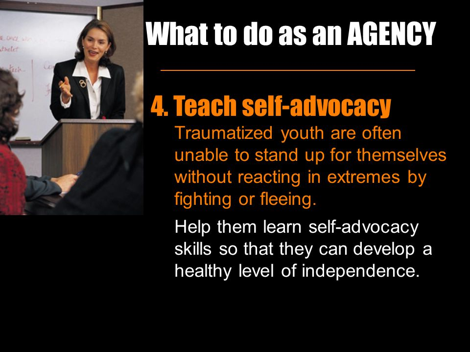 What to do as an AGENCY 4.