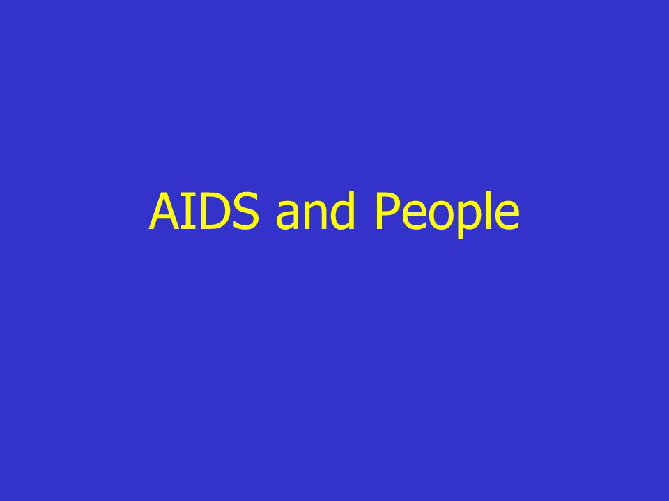 AIDS and People