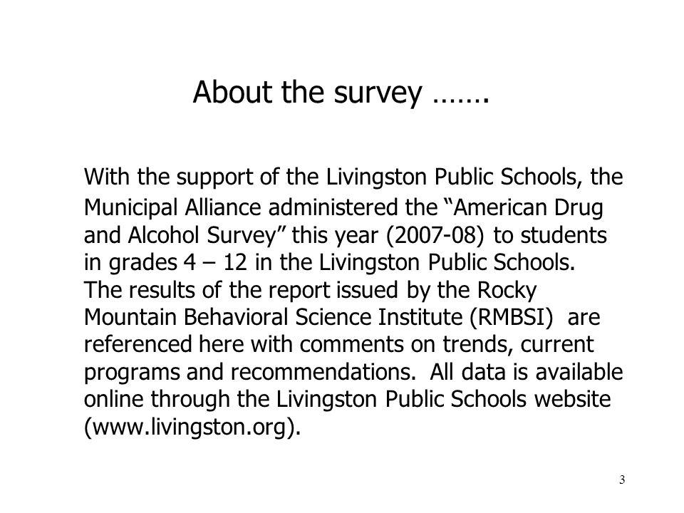 3 About the survey …….