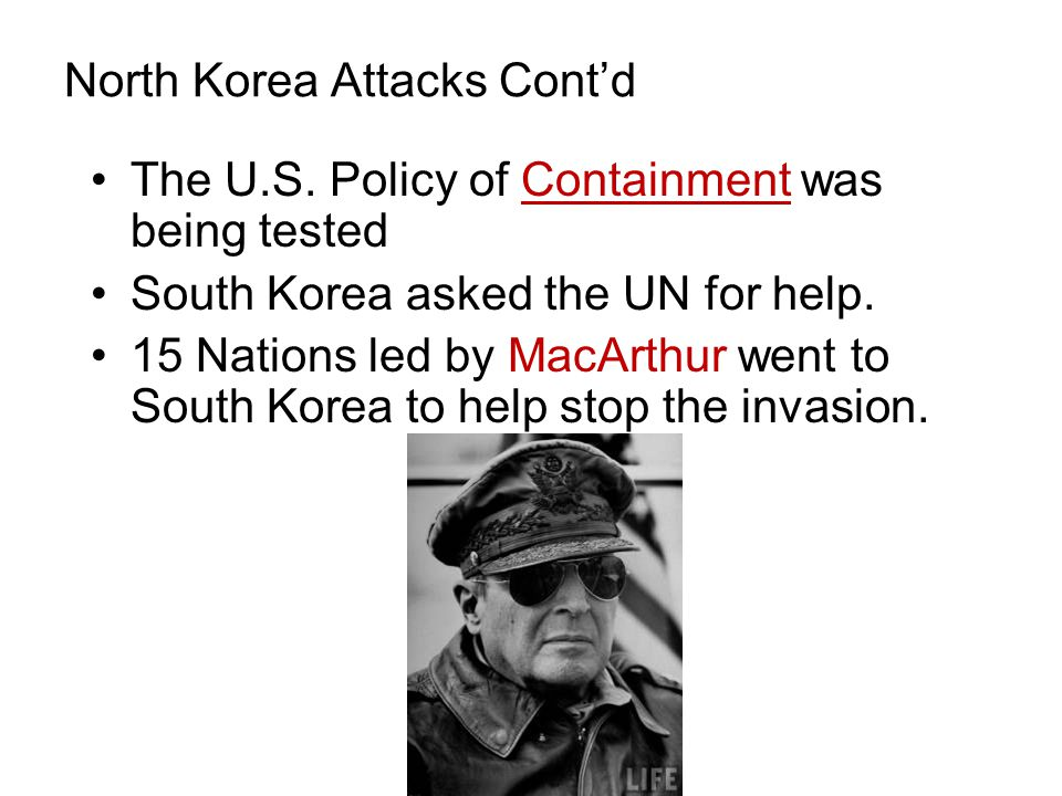 North Korea Attacks Cont'd The U.S.