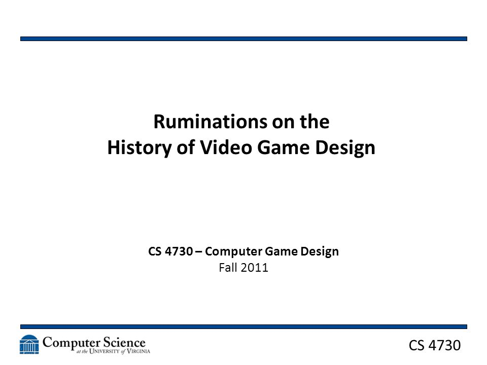 CS 4730 Game Mechanics What did you see in these games? 32