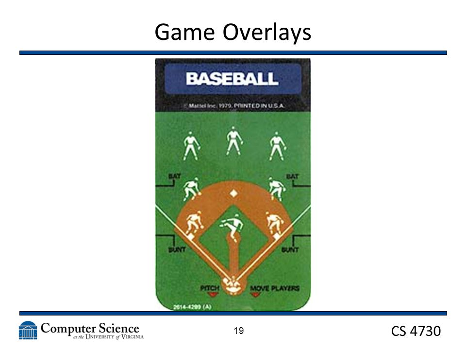 CS 4730 Game Overlays 19