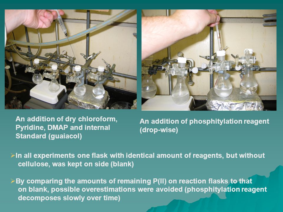  Reaction kinetics were monitored by taking out an aliquot (600 microliters) of reaction mixture containing P(II) that has not reacted with sample.