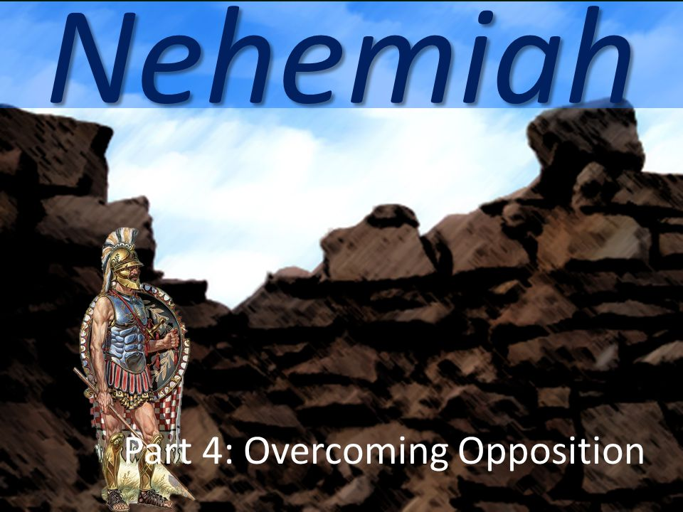 Remaining Alert Nehemiah 4:16-18, 21-23 Half worked, half defended Worked with one hand while carrying a weapon with the other.
