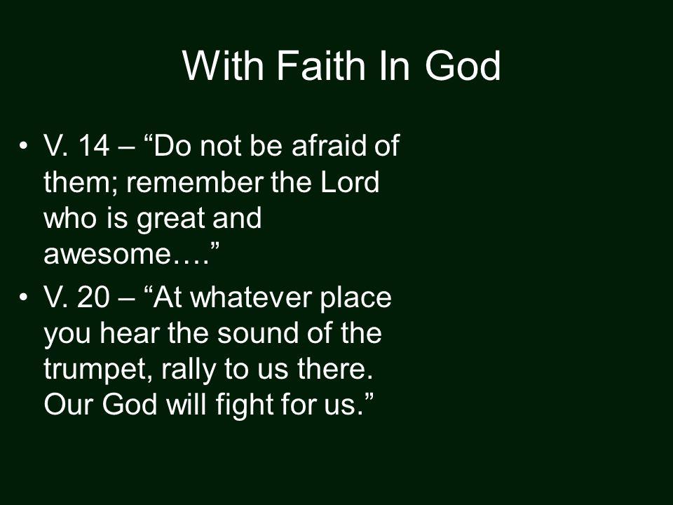 With Faith In God V.