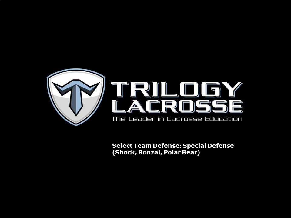 Select Team Defense: Special Defense (Shock, Bonzai, Polar Bear)