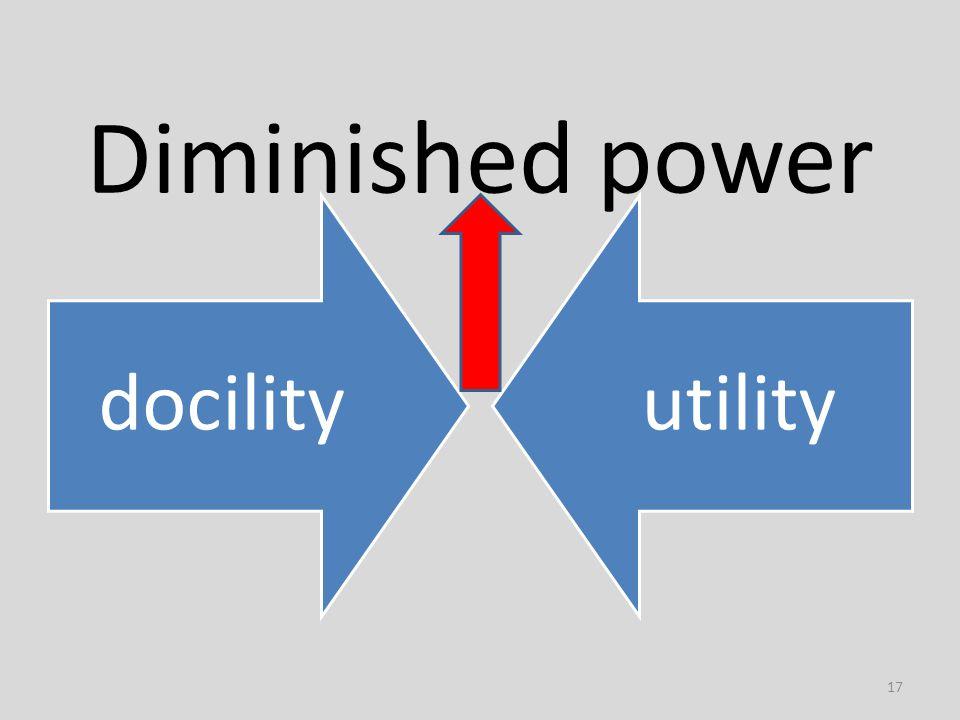 Diminished power docilityutility 17