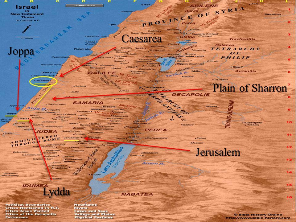 LyddaLydda Joppa Caesarea Plain of Sharron Jerusalem