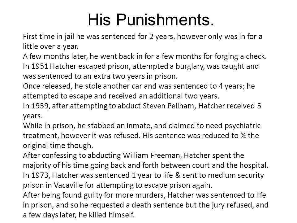 His Punishments.