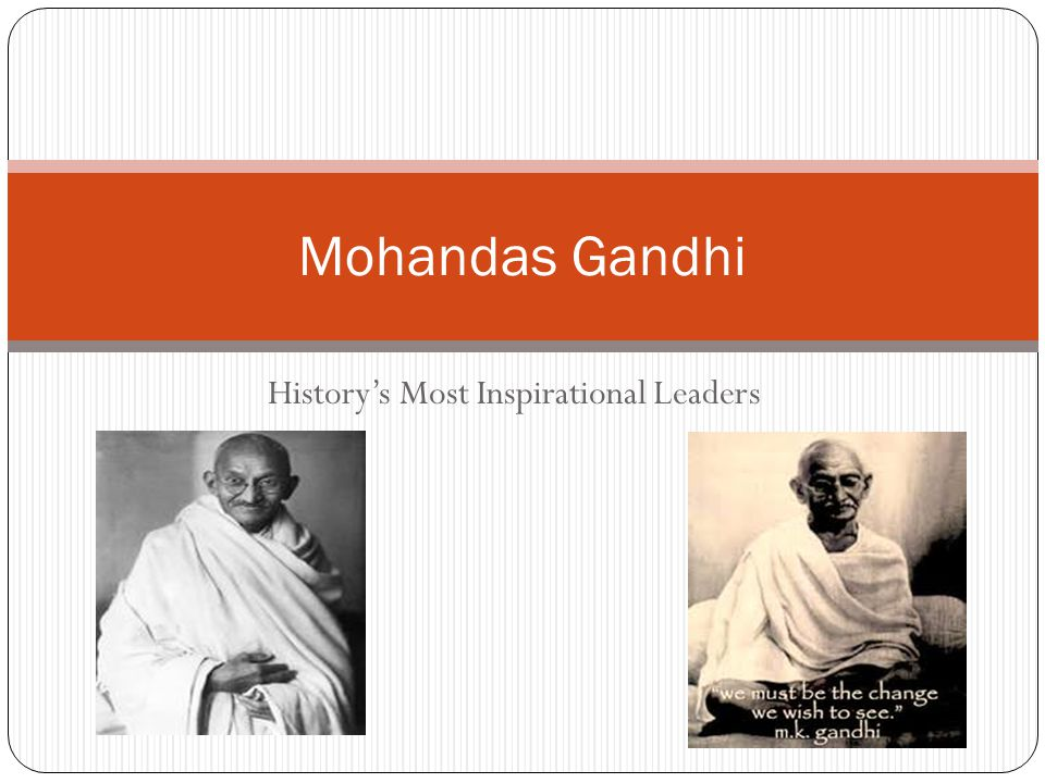 Introduction Mohandas Gandhi is considered the father of the Indian independence movement.