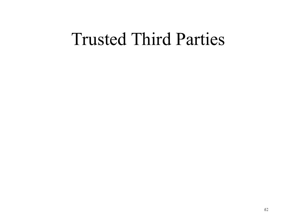 62 Trusted Third Parties