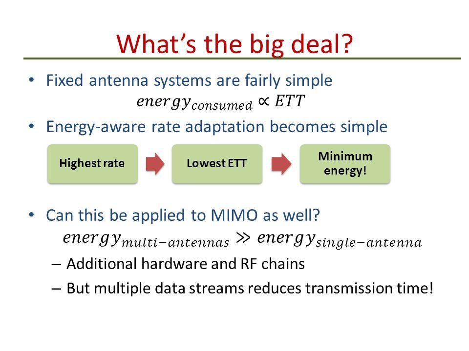 What's the big deal Highest rateLowest ETT Minimum energy!
