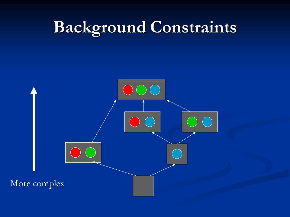 Background Constraints More complex