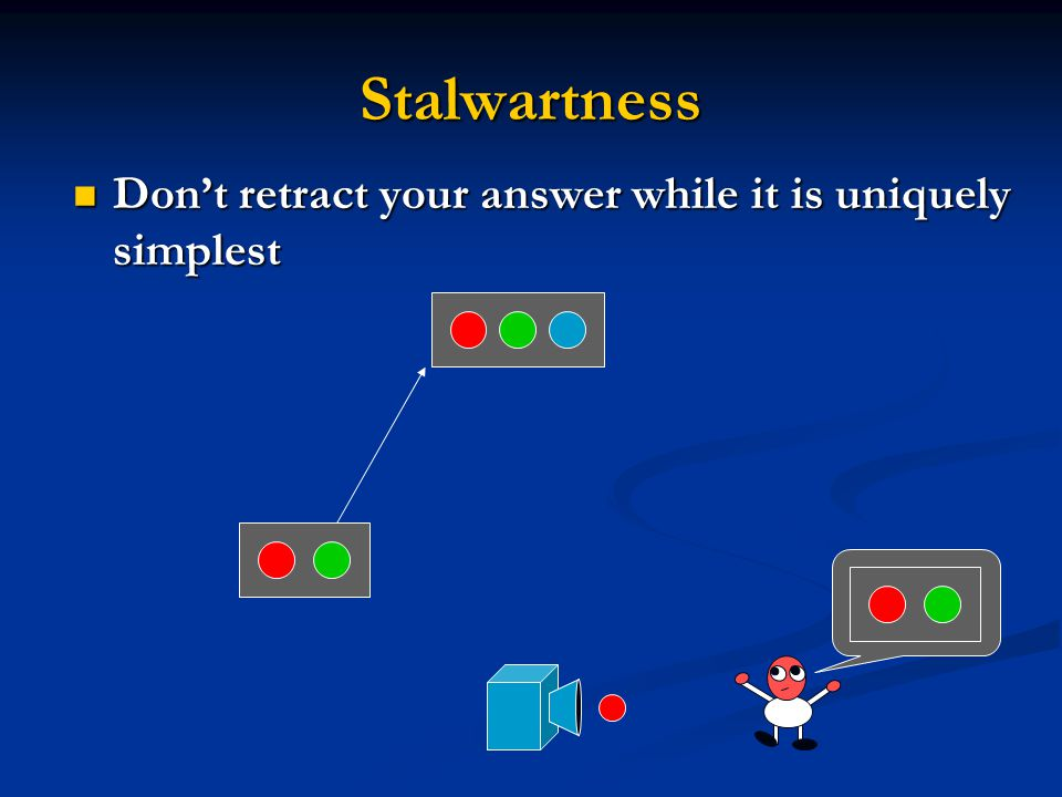 Stalwartness Don't retract your answer while it is uniquely simplest Don't retract your answer while it is uniquely simplest
