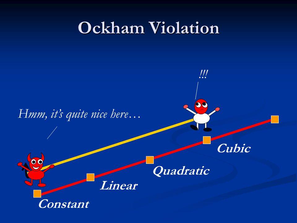 Ockham Violation Constant Linear Quadratic Cubic !!! Hmm, it's quite nice here…