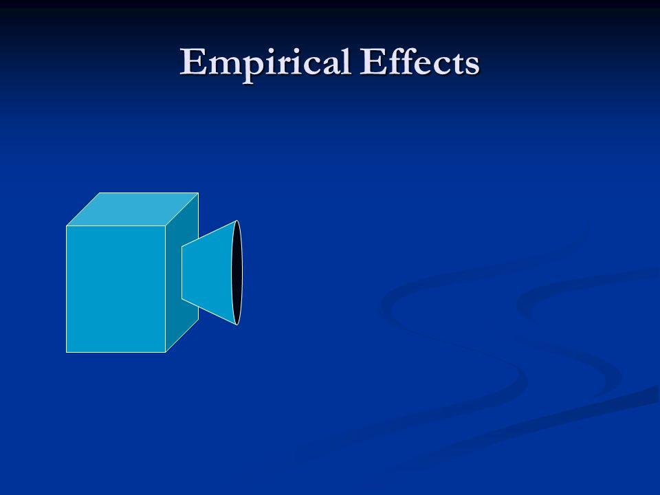 Empirical Effects