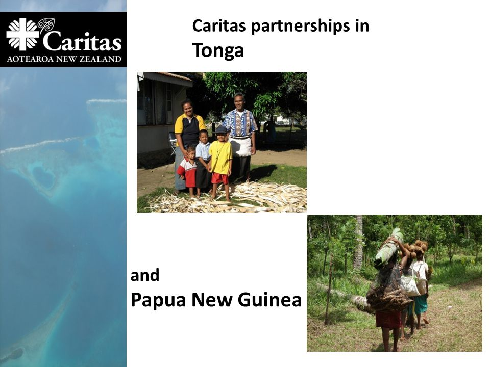 Caritas partnerships in Tonga and Papua New Guinea