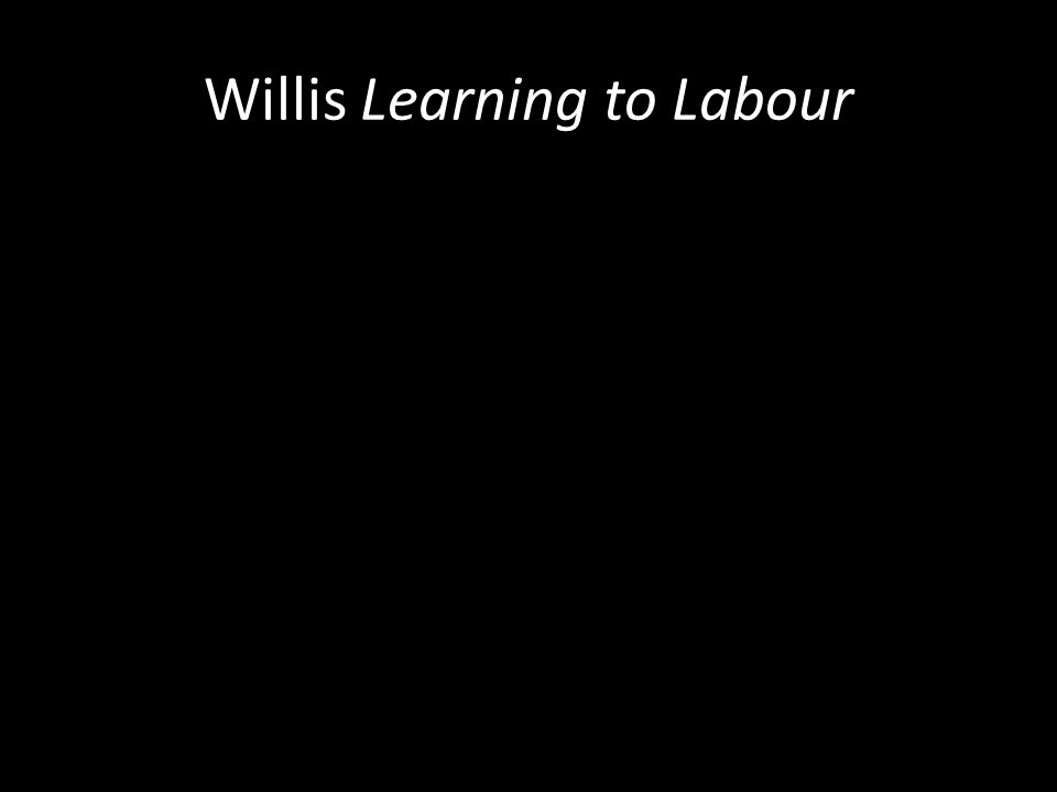 Willis Learning to Labour