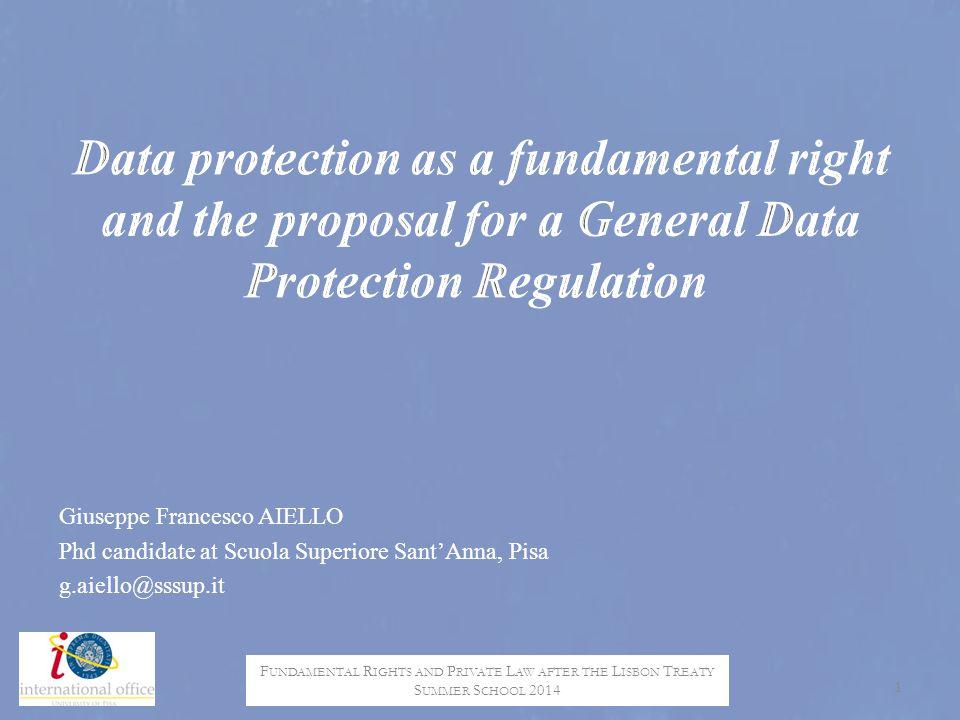 Privacy & Data protection E.U.vs. U.S.