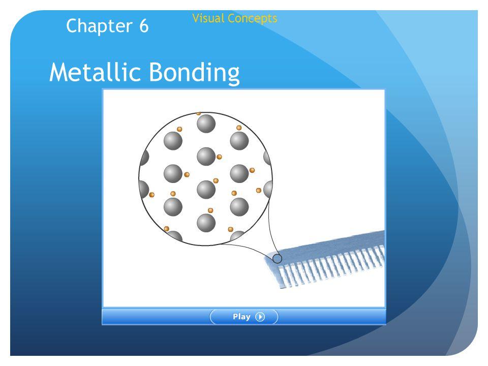 Visual Concepts Metallic Bonding Chapter 6