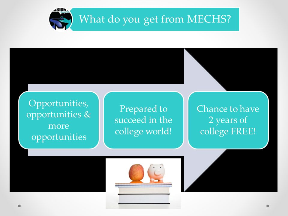 MECHS Mission! Mission Early College High School is founded on the belief that many high school students are ready and eager to do serious college wor
