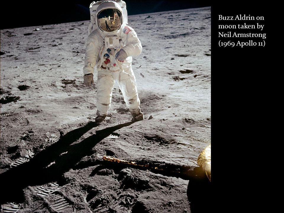 Buzz Aldrin on moon taken by Neil Armstrong (1969 Apollo 11)