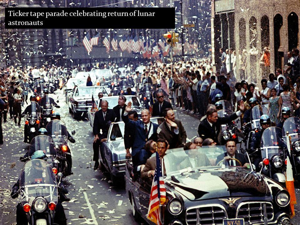 Ticker tape parade celebrating return of lunar astronauts