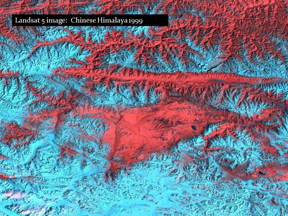 Landsat 5 image: Chinese Himalaya 1999
