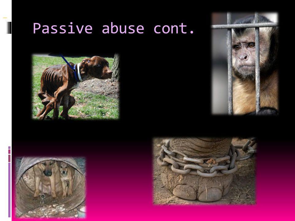 Passive abuse cont.