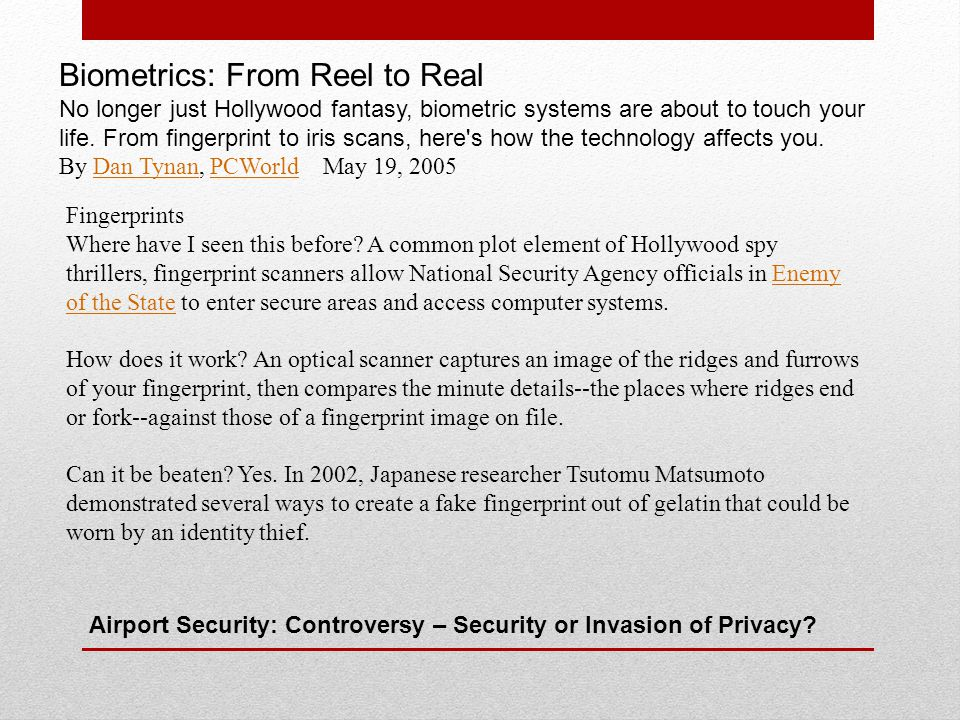 Airport Security: Controversy – Security or Invasion of Privacy.
