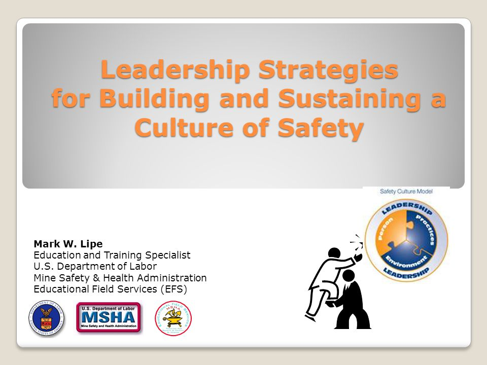 Leadership Strategies for Building and Sustaining a Culture of Safety Mark W.