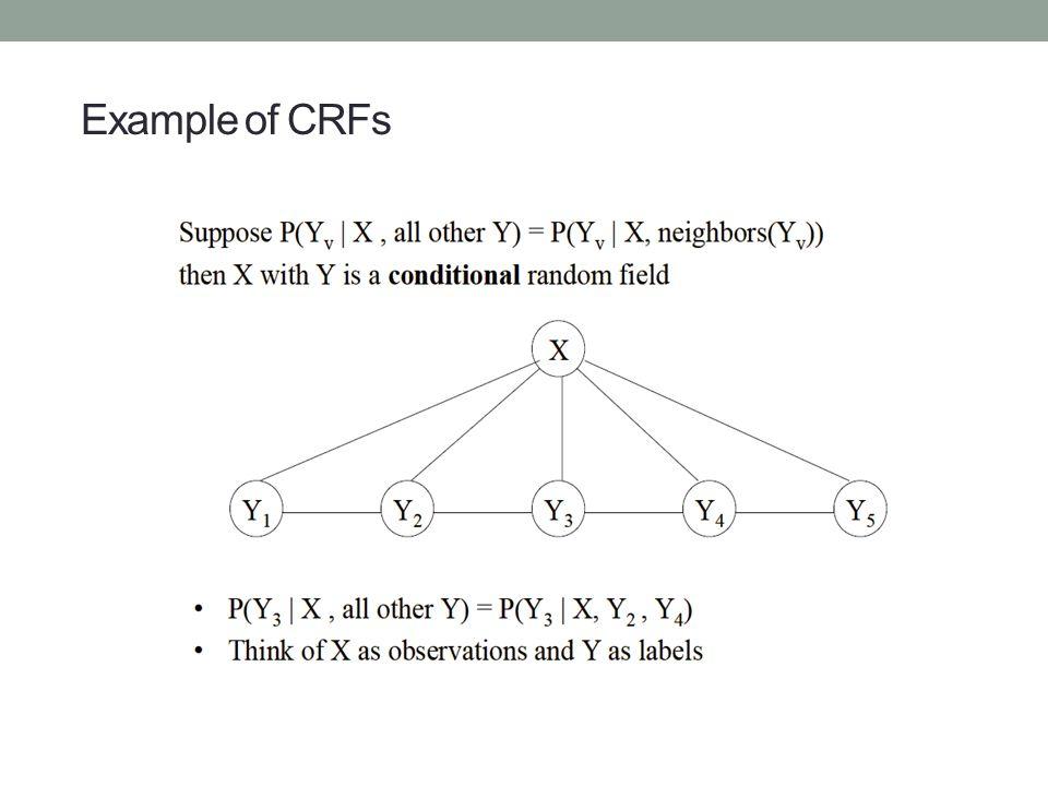 43/39 Example of CRFs